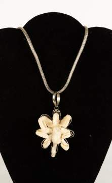 Sterling Silver Necklace with Carved Octopus