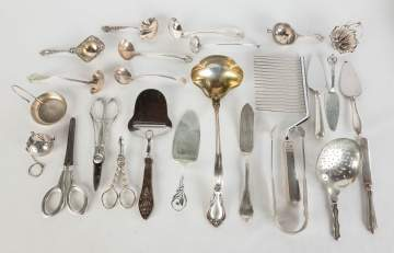 Group of Sterling Silver Serving Items etc.