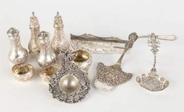 Group Sterling Silver Table Items