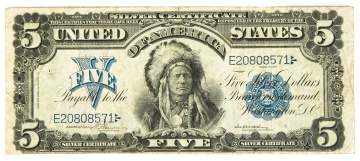Early American $5 Silver Certificate