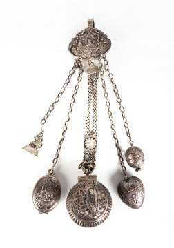19th Century Sterling Silver Chatelaine