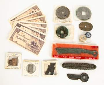 Various Asian Coins, Currency and Artifacts