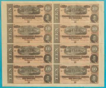 Group of Confederate Currency