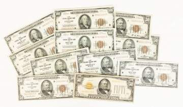 $100 and $50 Early American Currency