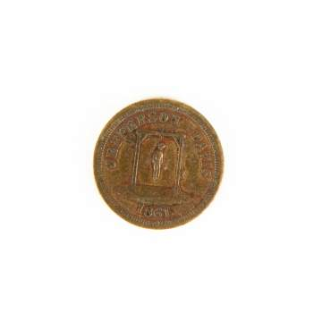 Jefferson Davis 1861 Token
