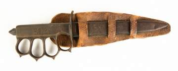 1918 L.F.& C. Brass Knuckle Trench Knife