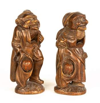 Carved Figural Nut Crackers.