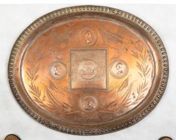 Commemorative Silver Plated Copper Tray