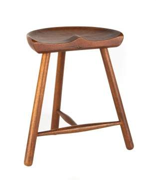 Mid Century Danish Teak Stool Attributed to Mogens  Lassen