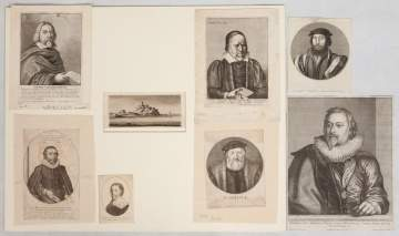 Group of Early Etchings and Drawing