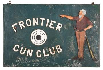 Frontier Gun Club Advertising Sign