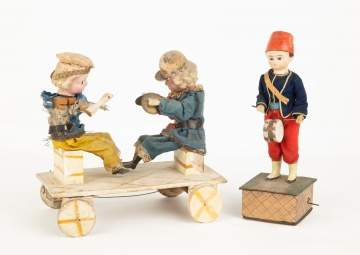 German Pull Toy and Mechanical Drummer