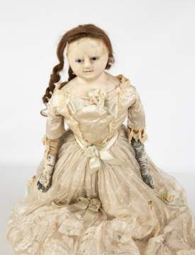 Celluloid Boy Doll and Wax Doll