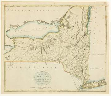 Map of New York State, 1796