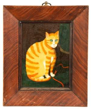 Primitive Painting of Cat