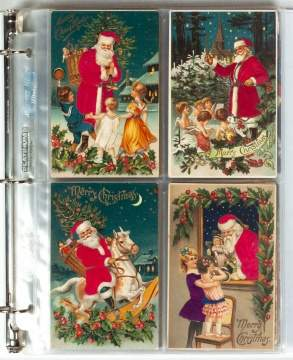 Collection of 80 Santa Christmas Postcards