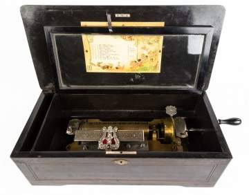 10 Tune Swiss Cylinder Music Box