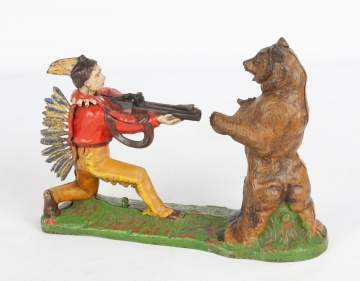 "Mechanical Bank ""Indian Shooting Bear"""