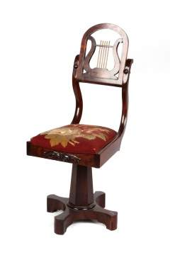 Empire Mahagony Music Chair