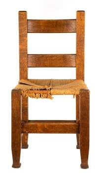 Attributed to Joseph McHugh Ladderback Sidechair.