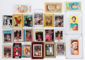 Group of NBA Trading Cards