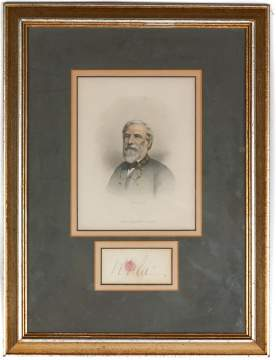 Autograph of General Robert E. Lee & Engraving