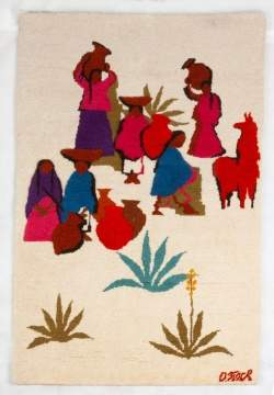 "Olga Fisch ""Indio"" Tapestry"