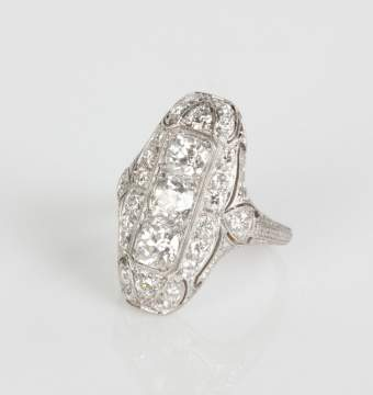 Ladies Platinum & Diamond Ring