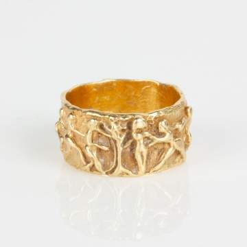 18K Gold Eve Cast Ring