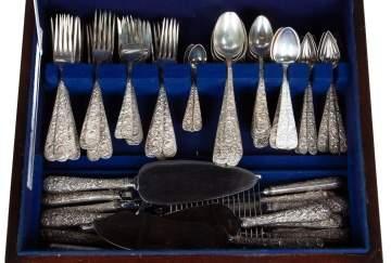 "S. Kirk & Son Inc. ""Repousse"" Sterling Silver Flatware"
