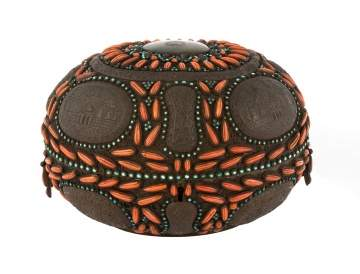 Ottoman Empire Oval Shaped Copper Box