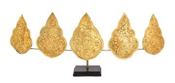 Javanese Gold Crown Ornaments