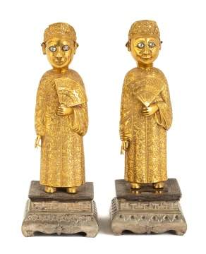 Pair of Standing Court Figures