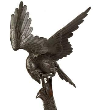 Japanese Bronze Eagle and Dragonfish