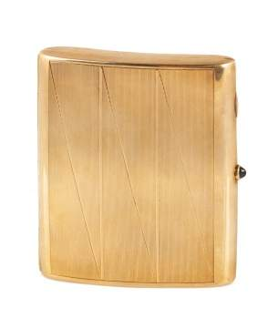 Art Deco 14kt Gold Cigarette Case