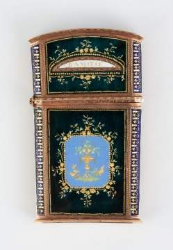 Gold and Enameled Souvenir Case