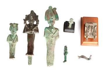 Group of Egyptian Bronzes
