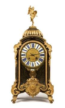 French Boulle and Gilt Bronze Clock with Bracket