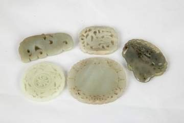 Chinese Carved Jade Pendants