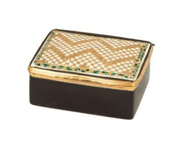 Gold & Enameled Box