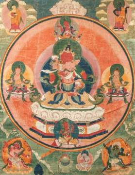Five Tibetan Thangkas