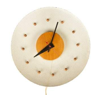 George Nelson Wire Mesh and Burch Wall Clock