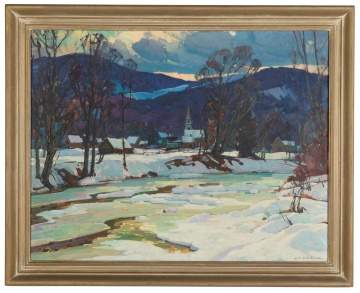 "Aldro Thompson Hibbard (American, 1886-1972) ""Late  Afternoon, Bondville, Vermont"""
