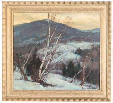 "Emile A. Gruppe (American,  1896-1978) ""Winter,  Vermont"""
