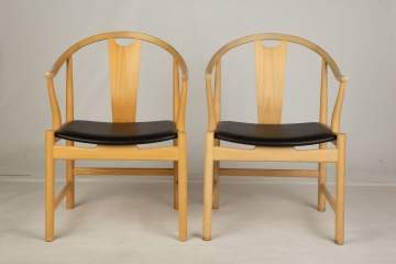 "Two Hans Wegner, ""Chinese Chairs"" No. 4"