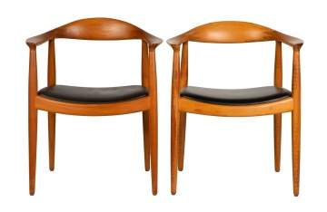 "Two Hans Wegner, ""The Round/Classic Chair"", No 501"