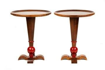 Pair of Art Deco Pedestal Side Table