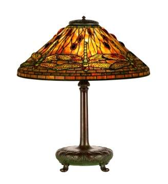 Tiffany Studios, NY Dragonfly Table Lamp