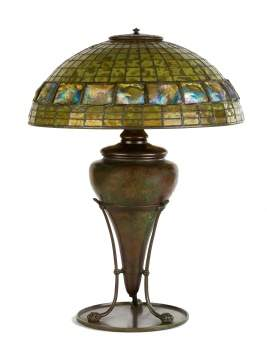 Tiffany Studios, NY Turtleback Lamp