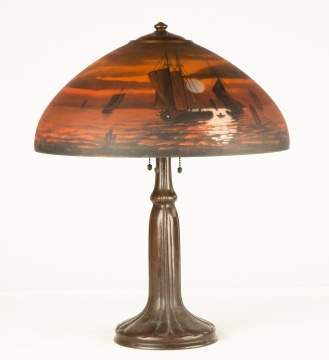 Handel Reverse Painted Sunset Table Lamp